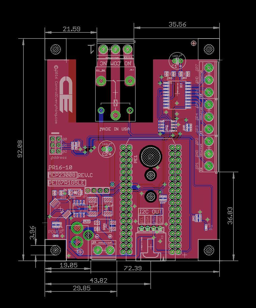 General Purpose Iot 1 Channel Spdt Relay Shield 7 Gpio
